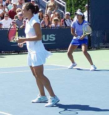 Sania Mirza and Francesca Schiavone