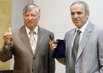 Kasparov and Karpov