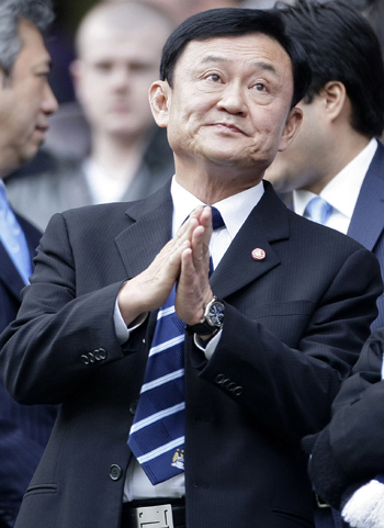 Thaksin Shinawatra, the high-profile former owner of Manchester City