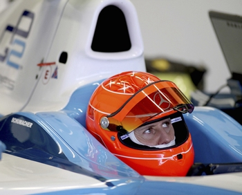 Michael Schumacher tests a GP2 development car in southern Spain