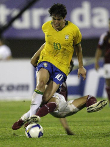 Kaka in a warm-up match