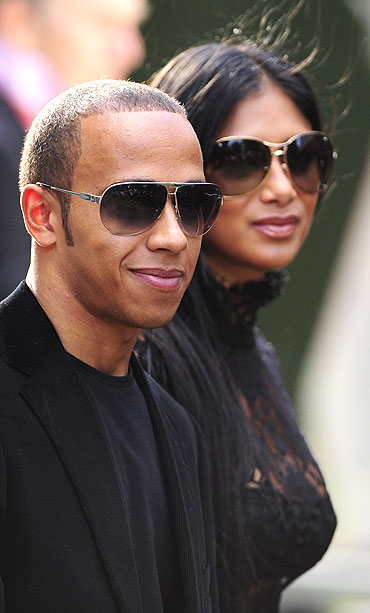 Lewis Hamilton with girlfriend Nicole Scherzinger