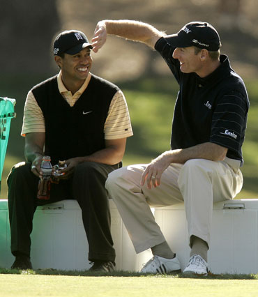 Jim Furyk and Tiger Woods