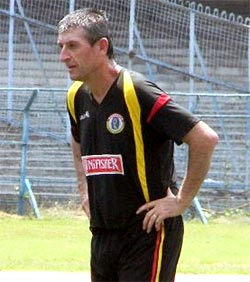 East Bengal coach Trevor Morgan