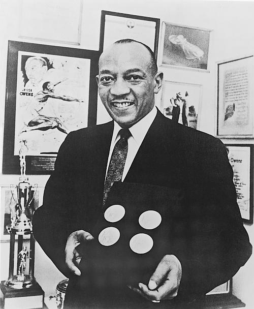 American track and field athlete Jesse Owens