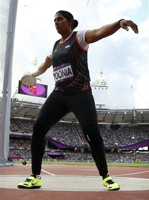 Poonia 7th in discus throw, Perkovic wins gold