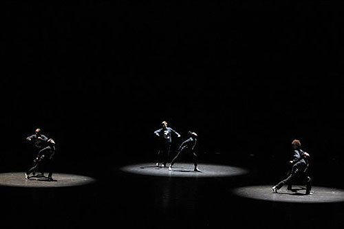 Dancers perform on stage during the opening ceremony of the International Olympic Committee session