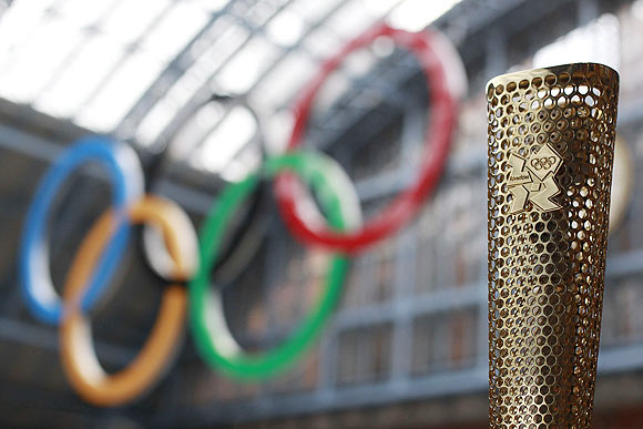 A prototype of the London 2012 Olympic Torch