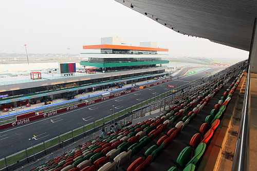 The view from the main Grandstand at the Buddh International Circuit