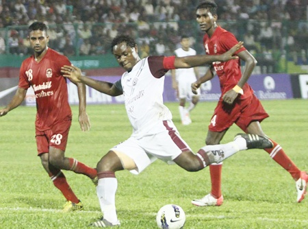 Bagan hold Churchill to goalless draw
