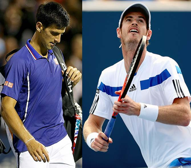 Novak Djokovic (left) and Andy Murray