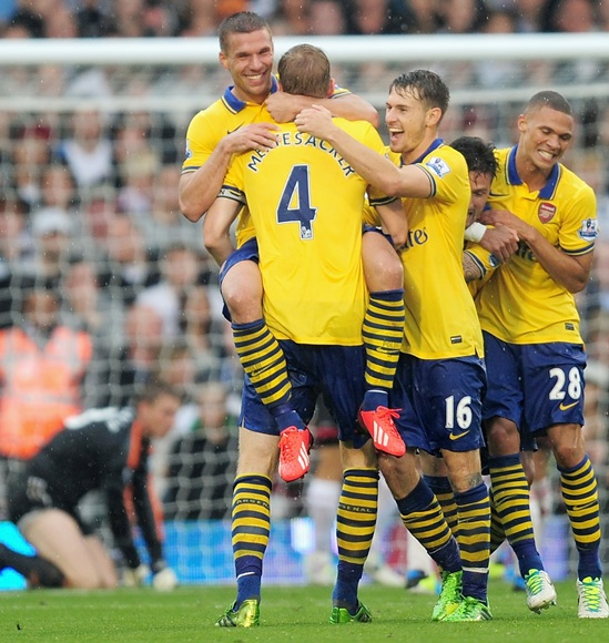 EPL PHOTOS: Arsenal ease past Fulham to end crisis talk