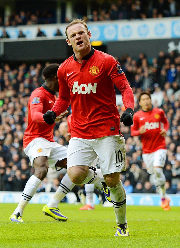 EPL: Rooney brace helps United to a draw at Tottenham