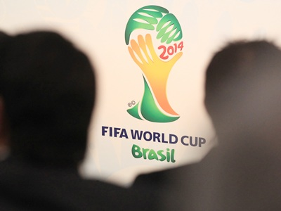 The logo of the FIFA World Cup 2014