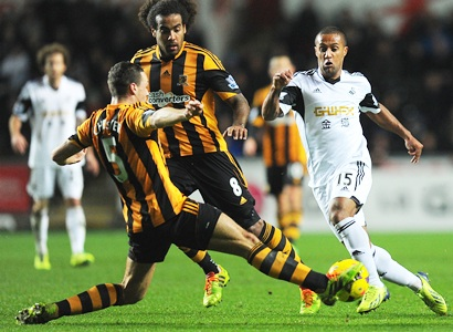 EPL: Unlikely scorers as Swansea draw with Hull