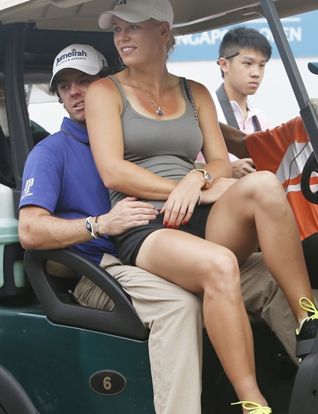 Rory McIlroy and Caroline Wozniacki at the start of their relationship.