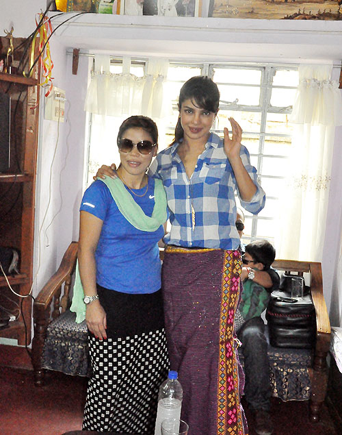 Priyanka Chopra with Mary Kom