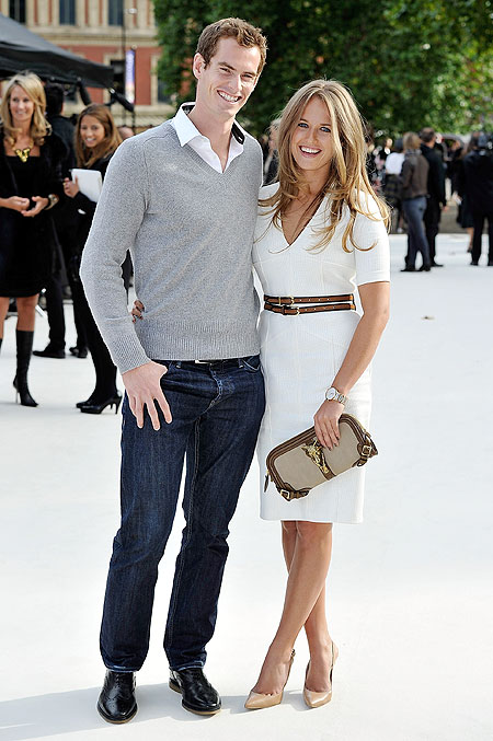 British tennis star Andy Murray with girlfriend Kim Sears