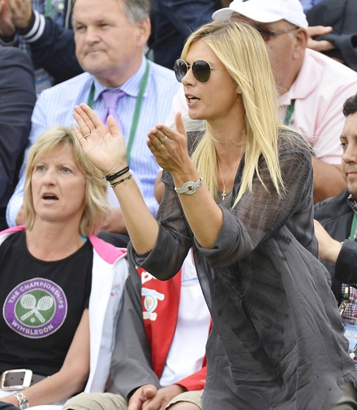 Maria Sharapova of Russia cheers