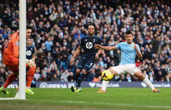 Man City put six past hapless Spurs, United held