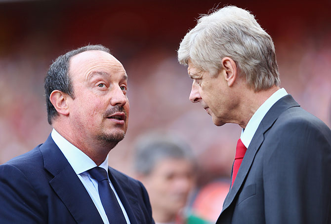 Benitez says Wenger is best manager in English Premier League