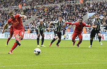 Liverpool's Gerrard in 100 goals club!