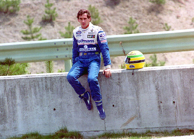 Ayrton Senna on April 17, 1994