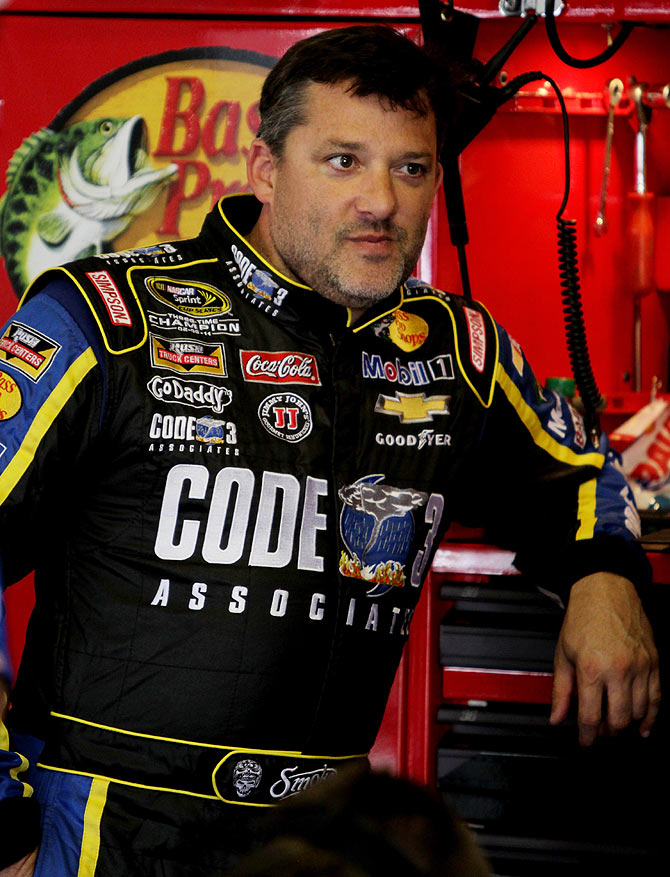 Tony Stewart, driver of the #14 Code 3 / Mobil 1 Chevrolet