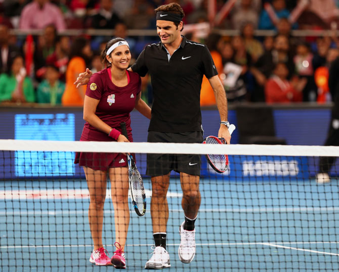 Sania Mirza and Roger Federer