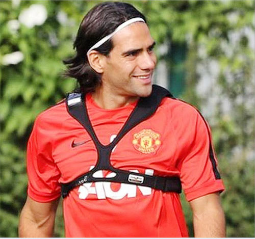Radamel Falcao at a training session