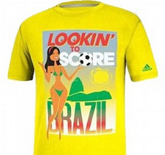 Adidas pulls 'sexually explicit' Brazil World Cup t-shirts