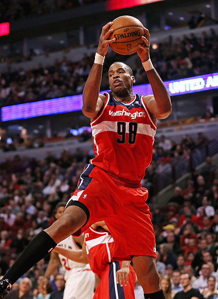 Jason Collins (98) of the Washington Wizards