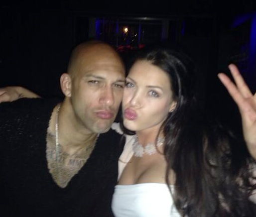 Sara McLean with Tim Howard