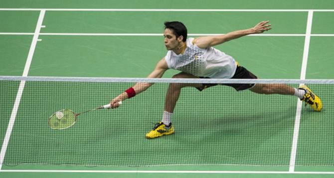 Parupalli Kashyap in action. Photograph: PTI