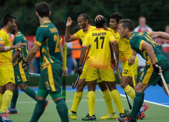 Indian men thrash South Africa in hockey