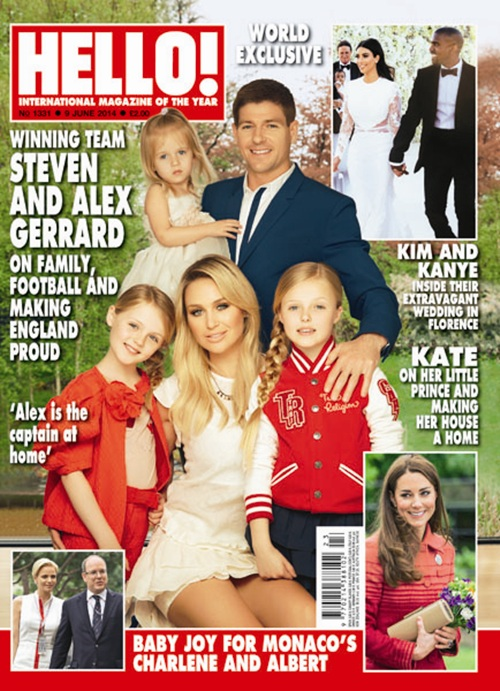 Steven Gerrard and family