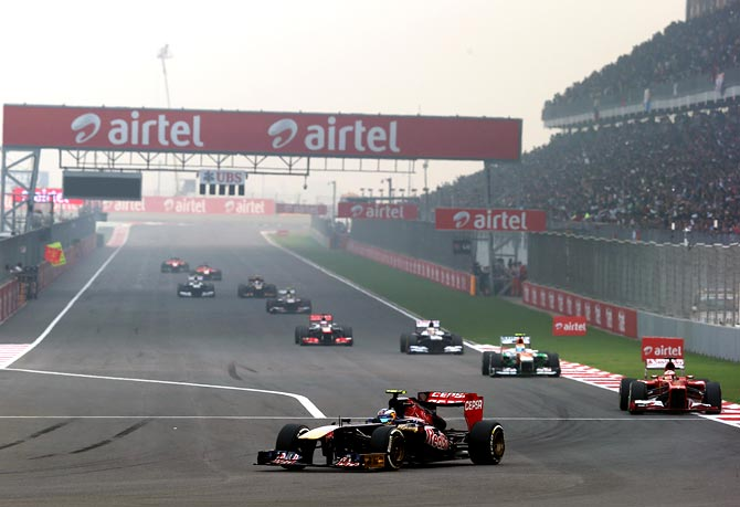 The 2013 Indian F1 Grand Prix at Buddh International Circuit in Noida.