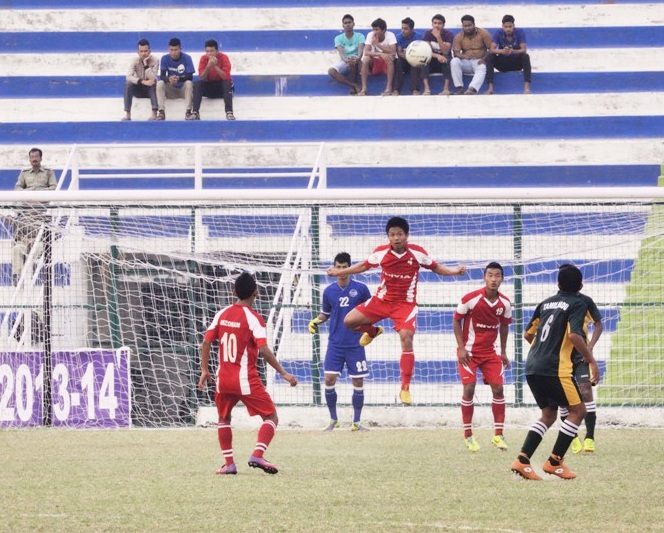 Mizoram and Tamil Nadu players in action.