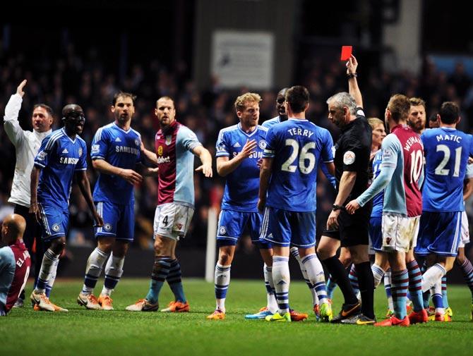 PHOTOS: Chelsea suffer shock loss at Villa, Man City crush Hull