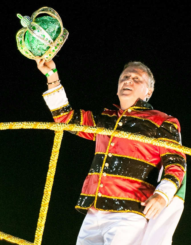 Brazilian former soccer player Zico, the guest of honor of the Imperatriz Leopoldinense samba school
