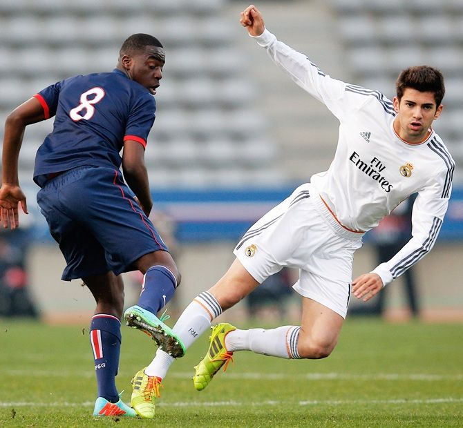 Enzo Fernandez (son of Zinedine Zidane) of Real Madrid
