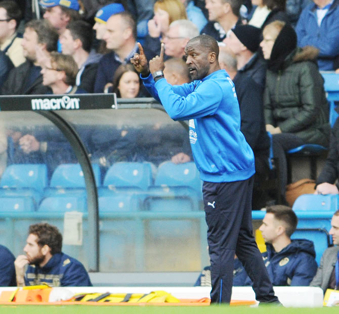 Manager Chris Powell of Huddersfield Town