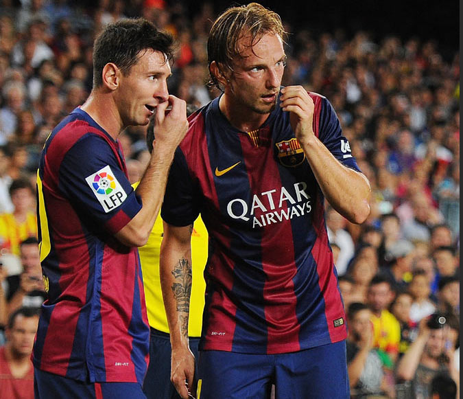 I wish Leo the best of luck for the World Cup but not today: Rakitic