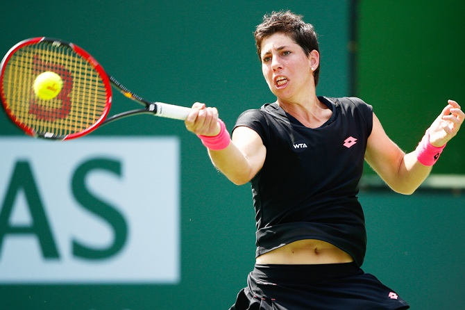 Carla Suarez Navarro in action