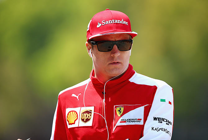Rediff Sports - Cricket, Indian hockey, Tennis, Football, Chess, Golf - Iceman Raikkonen gives cold shoulder to questions on future