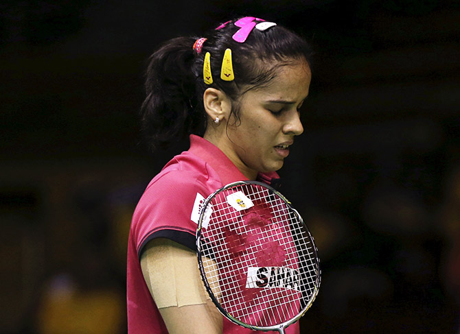 Rediff Sports - Cricket, Indian hockey, Tennis, Football, Chess, Golf - Sr National badminton: Saina refuses to play due to uneven surface