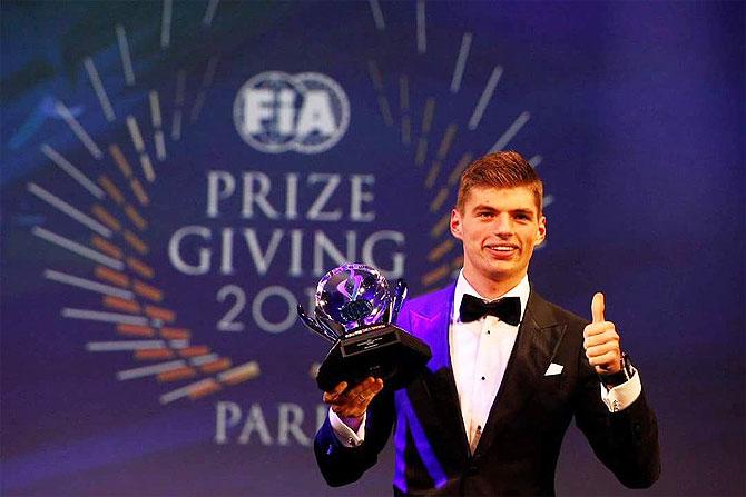 FIA awards: F1 teen sensation Verstappen is hero of the night