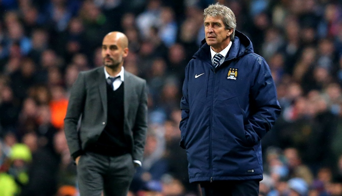 Manuel Pellegrini and Josep Guardiola