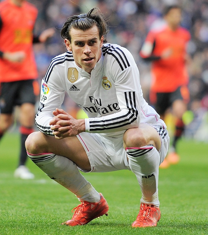 Gareth Bale of Real Madrid reacts