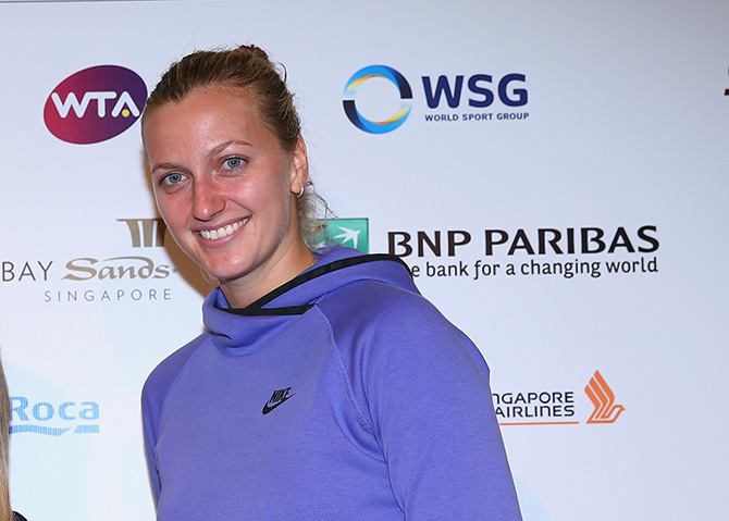 Petra Kvitova of the Czech Republi